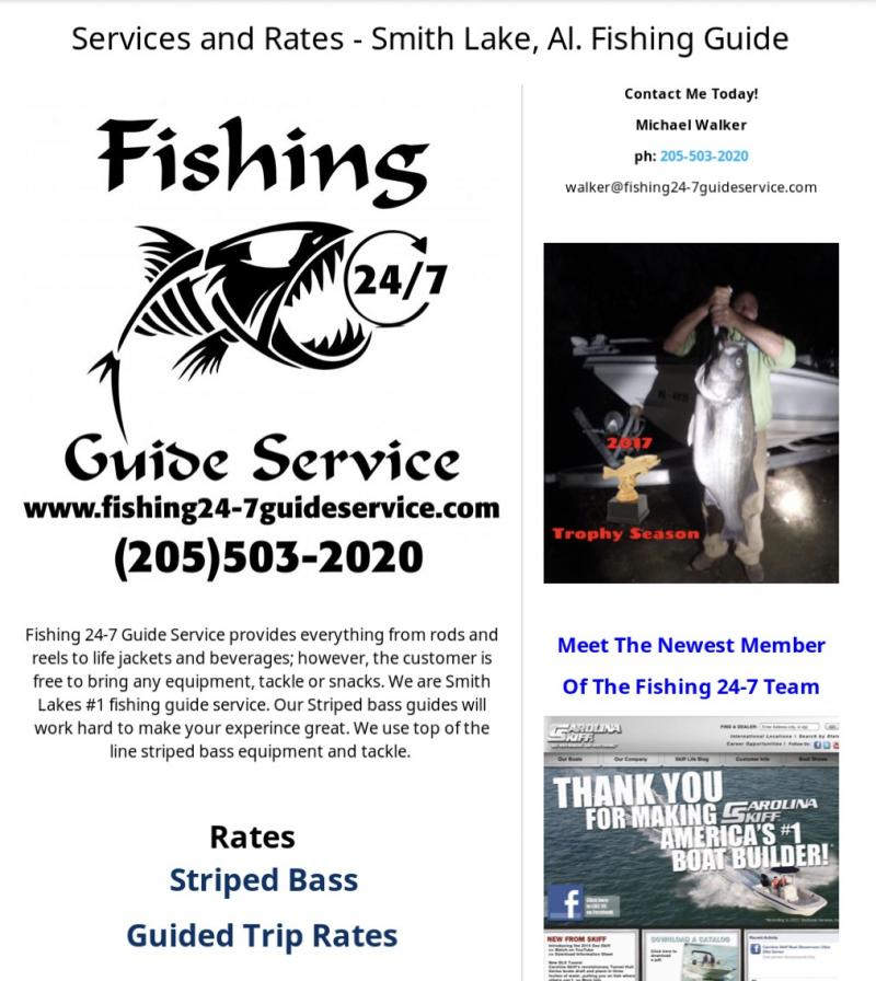 Fishing 24-7 Guide Service - Services And Rates Link